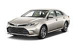 2018 Toyota Avalon XLE 4 Door Sedan Angular Front stock photos of front three quarter view