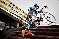 Githa Michiels (BEL) on the steps<br /> <br /> GP Sven Nys 2017