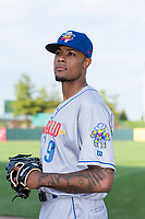 Amarillo Sod Poodles pitcher Reggie Lawson (9) poses for a photo before a Texas League game against the Springfield Cardinals at Hammons Field on April 25, 2019 in Springfield, Missouri. (Zachary Lucy/Four Seam Images)