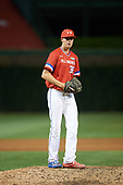 Matthew Liberatore (32) of Mountain Ridge High School in Peoria, Arizona gets ready to deliver a pitch during the Under Armour All-American Game presented by Baseball Factory on July 29, 2017 at Wrigley Field in Chicago, Illinois.  (Mike Janes/Four Seam Images)