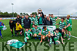 Killarney Celtic celebrate after capturing the Denny League Cup after defeating Killarney Athletic in the Denny Premier A League Final.