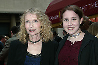 NEW YORK, NY- MAY 1: Mia Farrow and Dylan Farrow arrive at the opening night for Gypsy at the Shubert Theatre on May 1, 2003, in New York City. Credit: Joseph Marzullo/MediaPunch