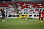 Al Muharraq (BHR) vs Al Ahed FC (LIB) during their AFC Cup 2016 Quarter Finals match at Bahrain National Stadium on 21 September 2016, in Manama, Bahrain. Photo by Stringer / Lagardere Sports
