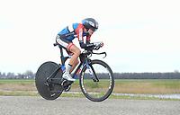 WIELRENNEN: HEERENVEEN: 04-04-2018, eerste etappe van de Healthy Ageing Tour in Heerenveen, Aafke Soet, ©foto Martin de Jong