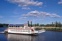 USA, Alaska, Raddampfer auf dem Chena-River bei Fairbanks