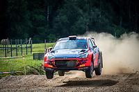 3rd July 2021, Liepaja, Latvia;  16 VEIBY Ole Christian (NOR), ANDERSSON Jonas (SWE), Printsport, Hyundai i20 R5 during the 2021 FIA ERC Rally Liepaja, 2nd round of the 2021 FIA European Rally Championship