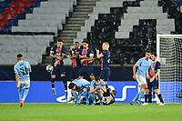 Riyad Mahrez (Man City) scores a goal <br /> Paris  28/04/2021 <br /> Paris Saint Germain PSG - Manchester City  <br /> semifinal 1st leg<br /> Champions League 2020/2021<br /> Photo JB Autissier / Panoramic / Insidefoto <br /> Italy Only