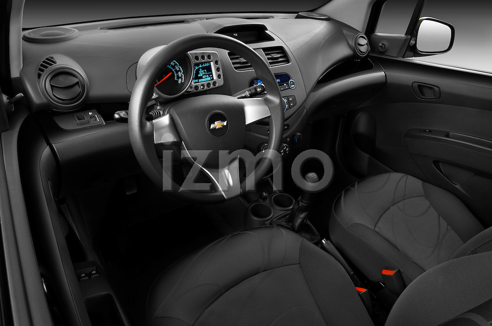 High angle dashboard view of a 2011 Chevrolet Spark LS 5 Door Hatchback