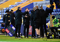 Lincoln City manager Michael Appleton, left, at the end of the game<br /> <br /> Photographer Andrew Vaughan/CameraSport<br /> <br /> EFL Trophy Northern Section Group E - Mansfield Town v Lincoln City - Tuesday 6th October 2020 - Field Mill - Mansfield  <br />  <br /> World Copyright © 2020 CameraSport. All rights reserved. 43 Linden Ave. Countesthorpe. Leicester. England. LE8 5PG - Tel: +44 (0) 116 277 4147 - admin@camerasport.com - www.camerasport.com