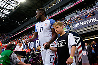 Harrison, NJ - Friday Sept. 01, 2017: Jozy Altidore, Volpi prior to a 2017 FIFA World Cup Qualifier between the United States (USA) and Costa Rica (CRC) at Red Bull Arena.