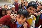 Schoolkids, Nako, Himachal Pradesh, India, August 2001.
