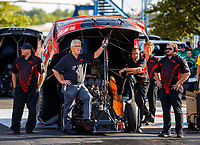 Sep 29, 2017; Madison , IL, USA; Jim Head team owner for NHRA funny car driver Jonnie Lindberg with crew members during qualifying for the Midwest Nationals at Gateway Motorsports Park. Mandatory Credit: Mark J. Rebilas-USA TODAY Sports