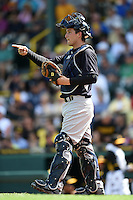 New York Yankees catcher John Ryan Murphy (66) during a Spring Training game against the Pittsburgh Pirates on March 5, 2015 at McKechnie Field in Bradenton, Florida.  New York defeated Pittsburgh 2-1.  (Mike Janes/Four Seam Images)