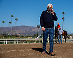 March 06, 2021: Bob Baffert talks with the owners of Life is Good after winning the San Felipe Stakes at Santa Anita Park in Arcadia, California on March 06, 2021. Evers/Eclipse Sportswire/CSM