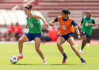 HOUSTON, TX - JUNE 12: Carli Lloyd #10 of the USWNT dribbles during a training session at University of Houston on June 12, 2021 in Houston, Texas.