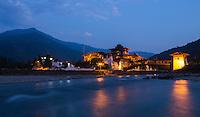 Evening at the Punakha Dzong,Bhutan