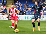 Ross County v St Johnstone…31.07.21  Global Energy Stadium<br />Jason Kerr and Jordan White<br />Picture by Graeme Hart.<br />Copyright Perthshire Picture Agency<br />Tel: 01738 623350  Mobile: 07990 594431