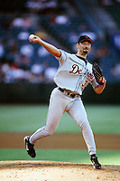 Dave Mlicki of the Detroit Tigers during a game against the Anaheim Angels at Angel Stadium circa 1999 in Anaheim, California. (Larry Goren/Four Seam Images)