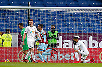 Martin Olsson of Swansea City reacts after Burnley score the first goal during the Premier League match between Burnley and Swansea City at Turf Moor, Burnley, England, UK. Saturday 18 November 2017