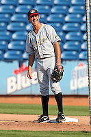 Bowling Green Hot Rods pitcher Alex Koronis (23) during a game vs. the Lake County Captains at Classic Park in Eastlake, Ohio;  August 20, 2010.   Lake County defeated Bowling Green 5-3.  Photo By Mike Janes/Four Seam Images