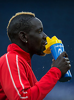 Mamadou Sakho of Crystal Palace pre match during the Premier League match between Chelsea and Crystal Palace at Stamford Bridge, London, England on 4 November 2018. Photo by Andy Rowland.<br /> .<br /> (Photograph May Only Be Used For Newspaper And/Or Magazine Editorial Purposes. www.football-dataco.com)