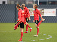 Jarne Teulings pictured during the training session of the Belgian Women's National Team ahead of a friendly female soccer game between the national teams of Germany and Belgium , called the Red Flames in a pre - bid tournament called Three Nations One Goal with the national teams from Belgium , The Netherlands and Germany towards a bid for the hosting of the 2027 FIFA Women's World Cup ,on 19th of February 2021 at Proximus Basecamp. PHOTO: SEVIL OKTEM | SPORTPIX.BE