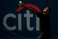 WASHINGTON, DC - AUGUST 1: Nick Kyrgios (AUS) practices ahead of the 2021 Citi Open at Rock Creek Park Tennis Center on August 1, 2021 in Washington, DC.