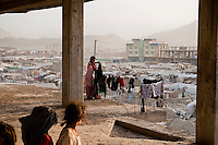 A camp containing displaced people in Kabul. They were mostly Afghan who had fled the Taliban and returned to find their villages and land had been stolen by others.