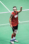Jan O Jorgensen of Denmark competes against Wong Wing Ki Vincent of Hong Kong during the 2016 Hong Kong Open Badminton Championships at the Hong Kong Coliseum on November 25, 2016 in Hong Kong, China. Photo by Marcio Rodrigo Machado / Power Sport Images