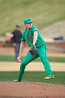 Notre Dame Fighting Irish starting pitcher Cameron Junker (32) in action against the Wake Forest Demon Deacons at David F. Couch Ballpark on March 10, 2019 in  Winston-Salem, North Carolina. The Fighting Irish defeated the Demon Deacons 8-7 in 10 innings in game two of a double-header. (Brian Westerholt/Four Seam Images)