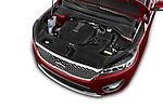 Car Stock 2017 KIA Sorento SX V6 AT 4WD 5 Door SUV Engine  high angle detail view