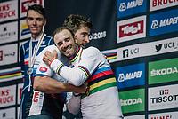 Alejandro Valverde (ESP/Movistar)<br /> <br /> MEN ELITE ROAD RACE<br /> Kufstein to Innsbruck: 258.5 km<br /> <br /> UCI 2018 Road World Championships<br /> Innsbruck - Tirol / Austria