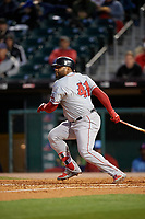 Pawtucket Red Sox designated hitter Pablo Sandoval (41) bats during a game against the Buffalo Bisons on May 19, 2017 at Coca-Cola Field in Buffalo, New York.  Buffalo defeated Pawtucket 7-5 in thirteen innings.  (Mike Janes/Four Seam Images)
