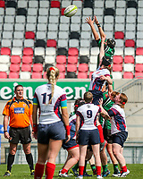 Saturday 20th April 2019 | 2019 Ulster Women's Junior Cup Final<br /> <br /> Julie Pollock during the Ulster Women's Junior Cup final between Malone and City Of Derry at Kingspan Stadium, Ravenhill Park, Belfast. Northern Ireland. Photo John Dickson/Dicksondigital