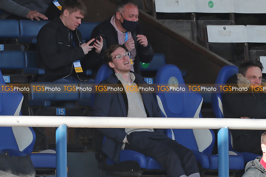 Sunderland's Owner Kyril Louis-Dreyfus celebrates after Sunderland's Aiden McGeady scores the equalising goal  during Peterborough United vs Sunderland AFC, Sky Bet EFL League 1 Football at London Road on 5th April 2021