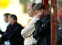 09/09/2006        Copyright Pic: James Stewart.File Name : jspa25_motherwell_v_ict.A DEJECTED MOTHERWELL BENCH CAN'T BEAR TO WATCH AS THEY GO DOWN TO ANOTHER HOME DEFEAT.....Payments to :.James Stewart Photo Agency 19 Carronlea Drive, Falkirk. FK2 8DN      Vat Reg No. 607 6932 25.Office     : +44 (0)1324 570906     .Mobile   : +44 (0)7721 416997.Fax         : +44 (0)1324 570906.E-mail  :  jim@jspa.co.uk.If you require further information then contact Jim Stewart on any of the numbers above.........