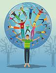 Illustrative representation social networking