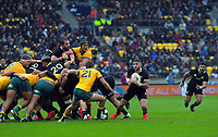 TJ Perenara darts down the blindside during the Bledisloe Cup rugby union match between the New Zealand All Blacks and Australia Wallabies at Sky Stadium in Wellington, New Zealand on Sunday, 11 October 2020. Photo: Dave Lintott / lintottphoto.co.nz