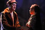 UN VIOLON SUR LE TOIT..Auteur : STEIN Joseph..Adaptateur : LAPORTE Stephane..Mise en scene : DESCHAUX Jeanne..Decor : TAPIERMAN Serge..Avec :..CAIHOL Vanessa:CHAVA la cadette..NUS Johan:FYEDKA le jeune russe..Lieu : Le Palace..Ville : Paris..Le : 18 02 2010..© Laurent PAILLIER / photosdedanse.com..All rights reserved
