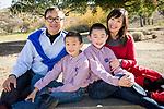 Christmas family portraits at the Benicia Community Park.