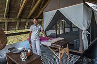 Africa, Botswana, Khwai, The Lodge, Feline Fields, edge of the Kalahari desert. Masseuse.