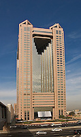 Dubai. United Arab Emirates.  Fairmont Hotel on Sheikh Zayed Road/Abu Dhabi Road.  Business and convention hotel..