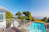 BNPS.co.uk (01202 558833)<br /> Pic: Savills/BNPS<br /> <br /> Pictured: The view from the balcony.<br /> <br /> A clifftop home with breathtaking panoramic sea views is on the market for £3.25m.<br /> <br /> Sandpierre also has a private swimming pool and a viewing platform overlooking the beach with 180-degree views of the water. <br /> <br /> The six-bedroom family home is on the Bournemouth/Poole coastline in Dorset and is being sold for the first time in 25 years.<br /> <br /> The house was built in the 1930s and is in a quiet cul-de-sac in Branksome Dene Chine - midway between the town centres of Bournemouth and Poole.