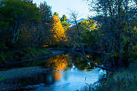 Evening Light Along The Ausable River In The Adirondack Mountains Of New York State