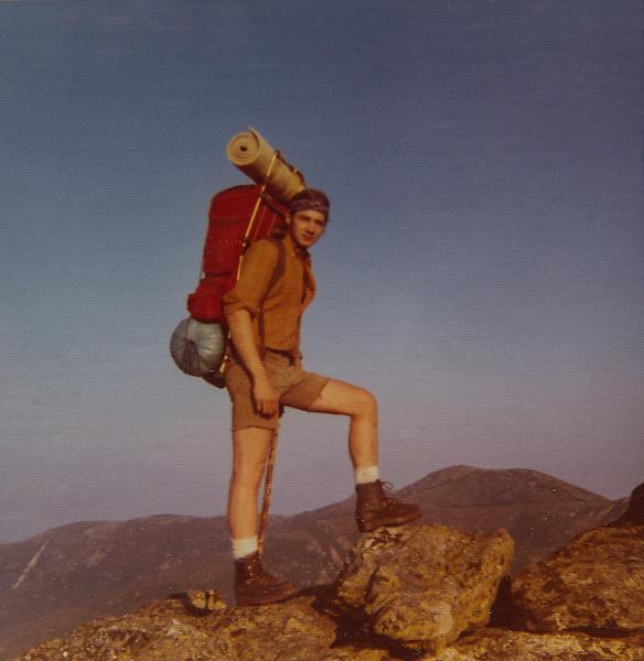 John Kieffer backpacking in the White Mountains, NH