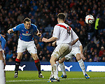 Jon Daly scores with a header just afer half-time
