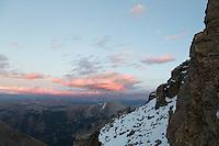 Sunset from near Castle Peaks' summit