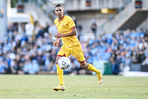 18th April 2021; Leichardt Oval, Sydney, New South Wales, Australia; A League Football, Sydney Football Club versus Adelaide United; Juan Lopez of Adelaide United picks up the loose ball