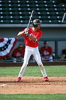 Jayce Easley plays in the MLB / USA Baseball Prospect Development Pipeline game at Sloan Park on February 5, 2017 in Mesa, Arizona (Bill Mitchell)