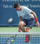 August  18, 2016:  Milos Raonic (CAN) defeated Yuichi Sugita (JPN) 6-1, 3-6, 6-1, at the Western & Southern Open being played at Lindner Family Tennis Center in Mason, Ohio. ©Leslie Billman/Tennisclix/CSM